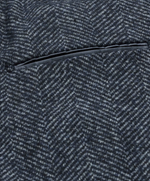 Load image into Gallery viewer, Navy Herringbone Longline Overcoat