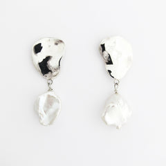LENA Keshi Pearl and Silver Earrings