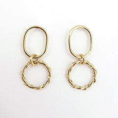 CARLA Dangle Earrings in brass