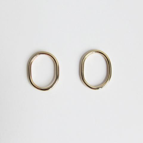 CAMILA M BRASS EARRINGS