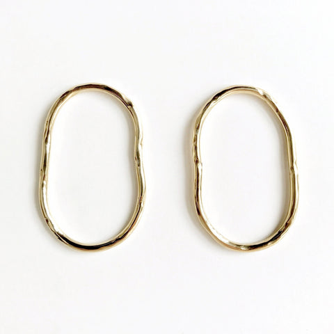 VERA BRASS EARRINGS