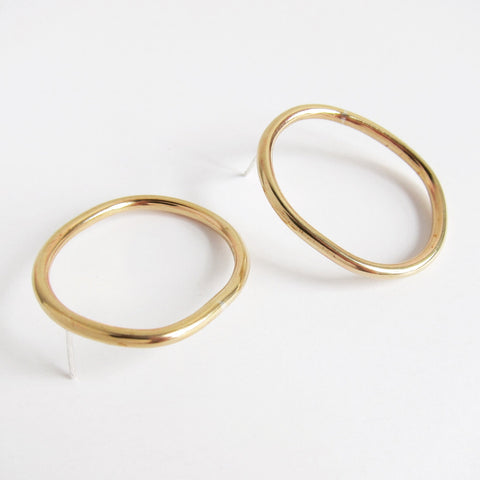 CAMILA L BRASS EARRINGS