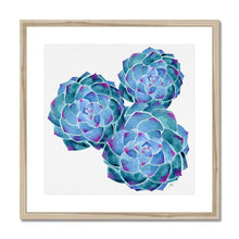 Load image into Gallery viewer, Framed art print natural frame