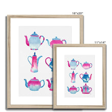 Load image into Gallery viewer, Pink Teapot Collection Framed & Mounted Print