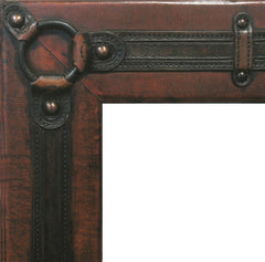 Leather with horse hardware