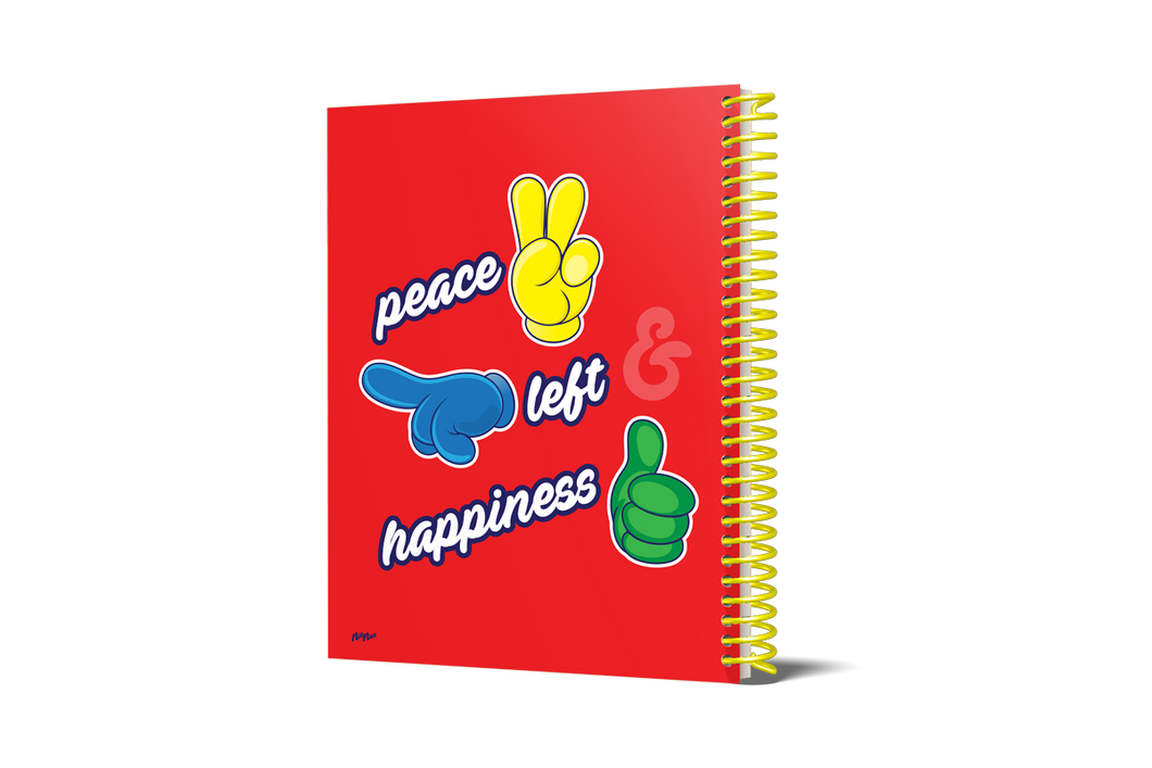 PEACE, LEFT & HAND NOTEBOOK
