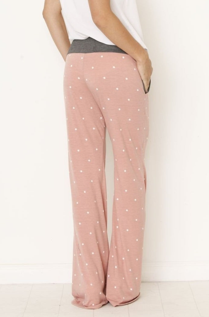 Wide Leg Comfs - Pink Dot
