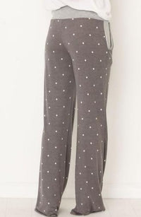 Wide Leg Comfs - Grey Dot