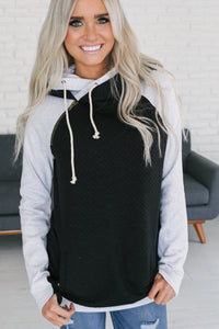 DoubleHood™ Sweatshirt - Quilted Black