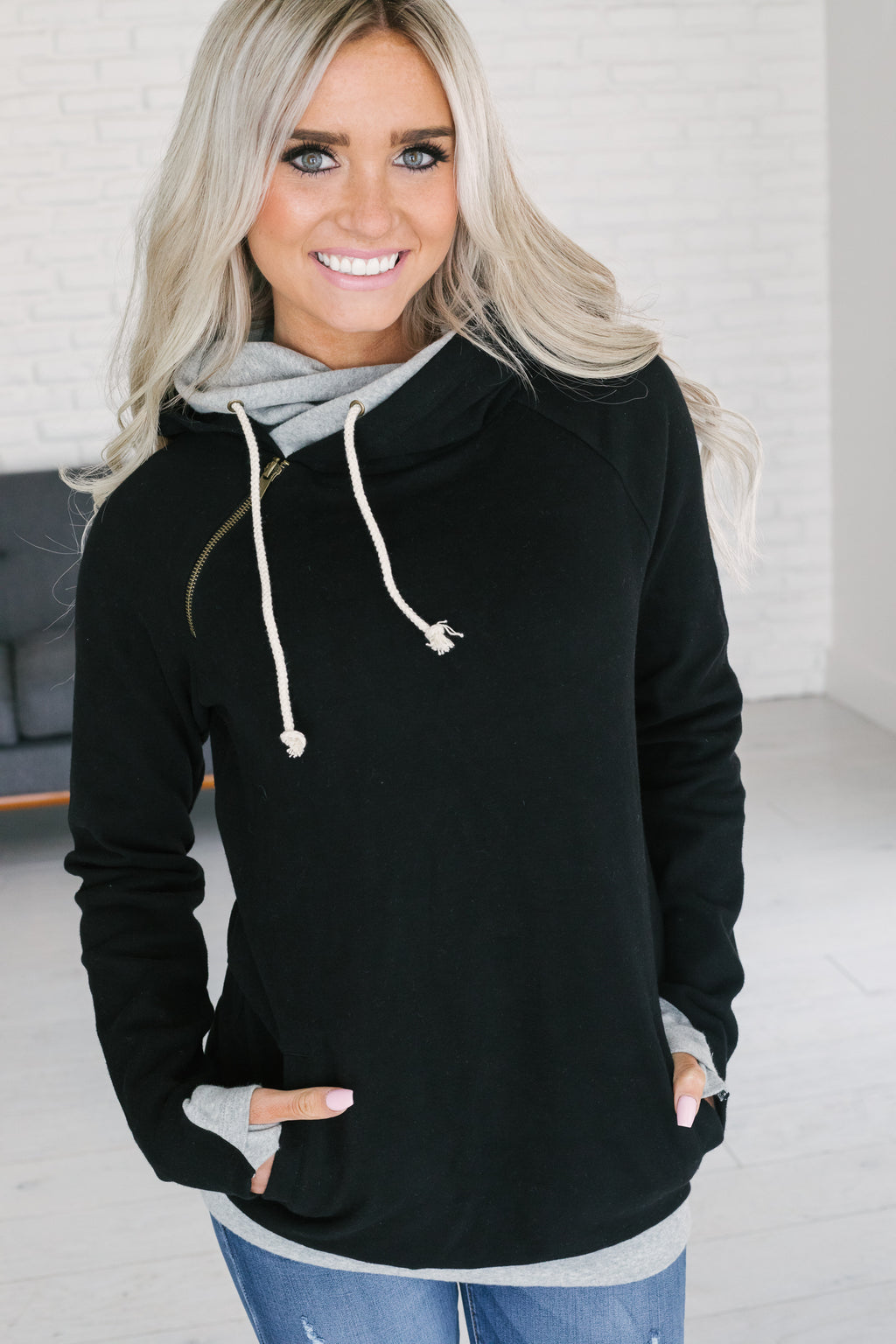 DoubleHood™ Sweatshirt - Basic Black