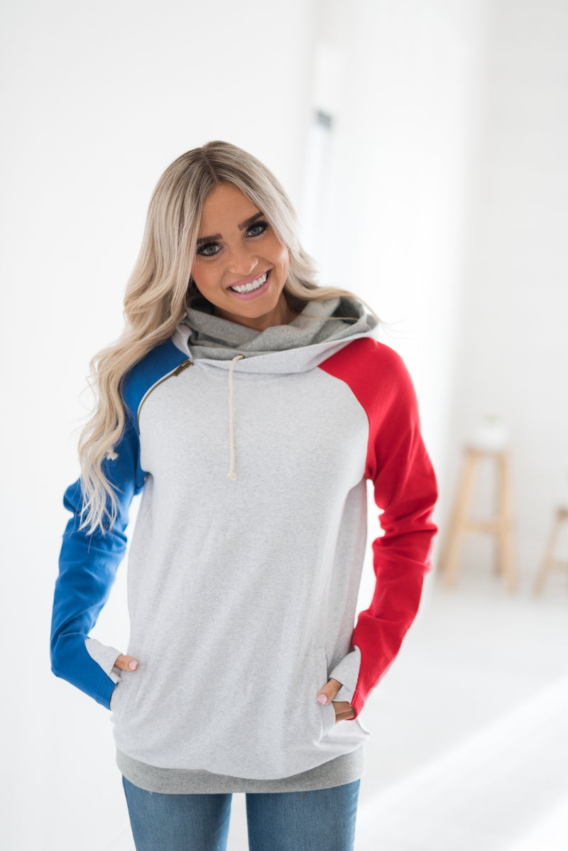DoubleHood™ Sweatshirt - Lady Liberty