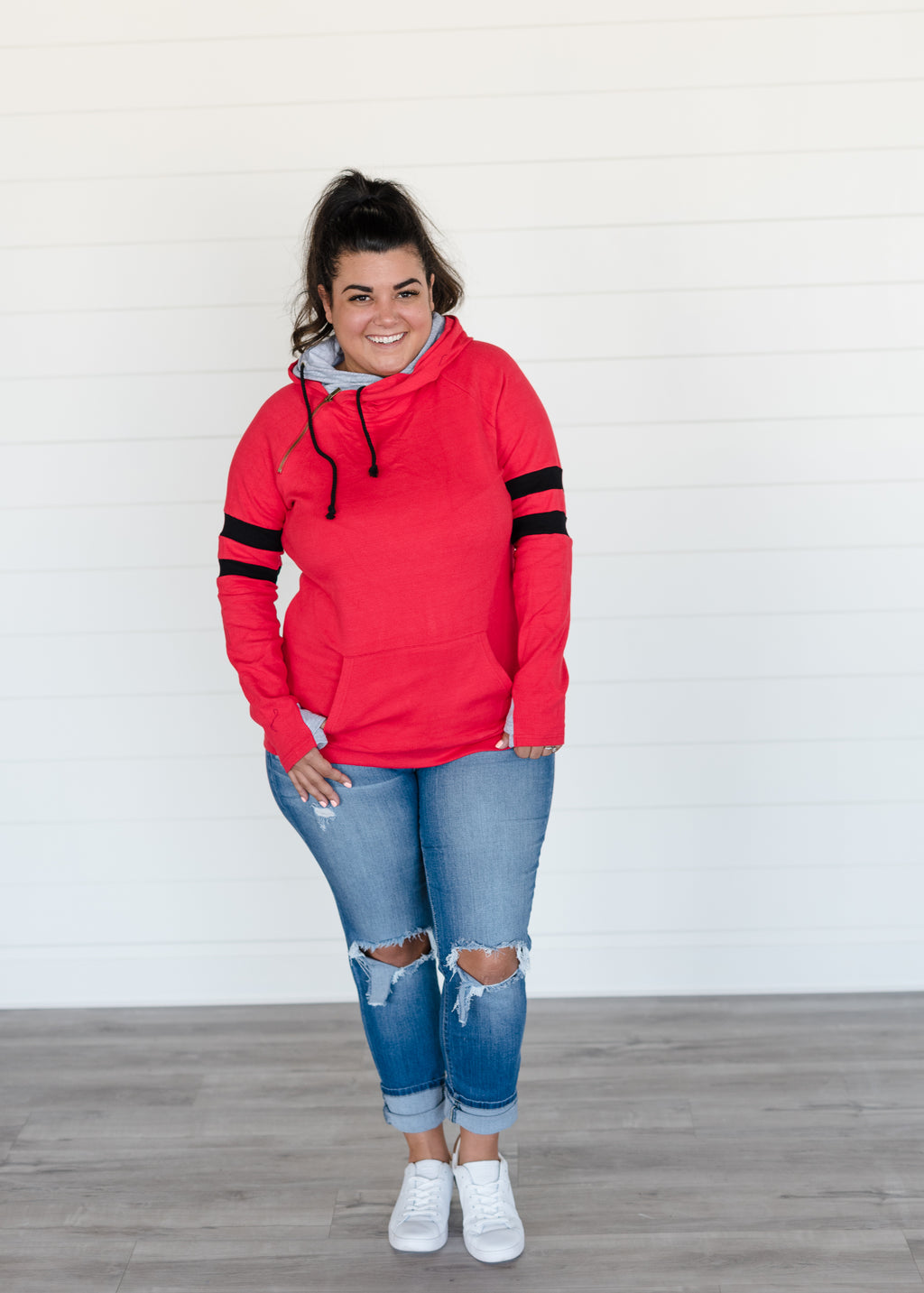 DoubleHood™ Sweatshirt - be beaUTiful - Red