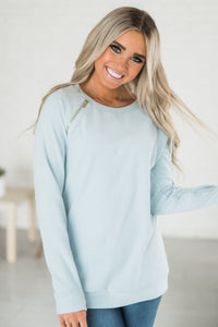 SideZip Pullover - Blue