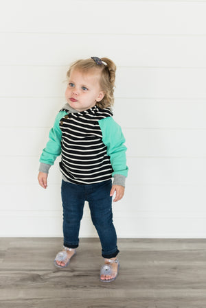 Kids - Black Stripe & Mint DoubleHood™