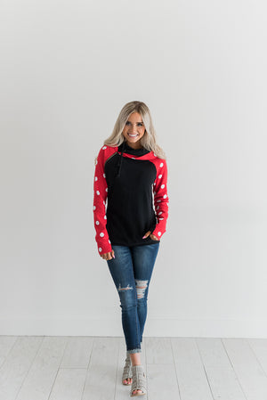 DoubleHood™ Sweatshirt - Just Add a Bow