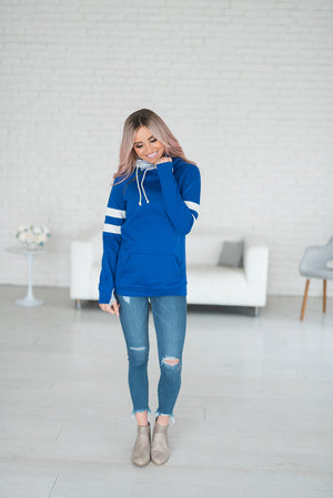 DoubleHood™ Sweatshirt - Be YoUrself - blue