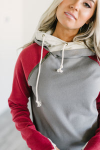Baseball DoubleHood™ Sweatshirt - Burgundy