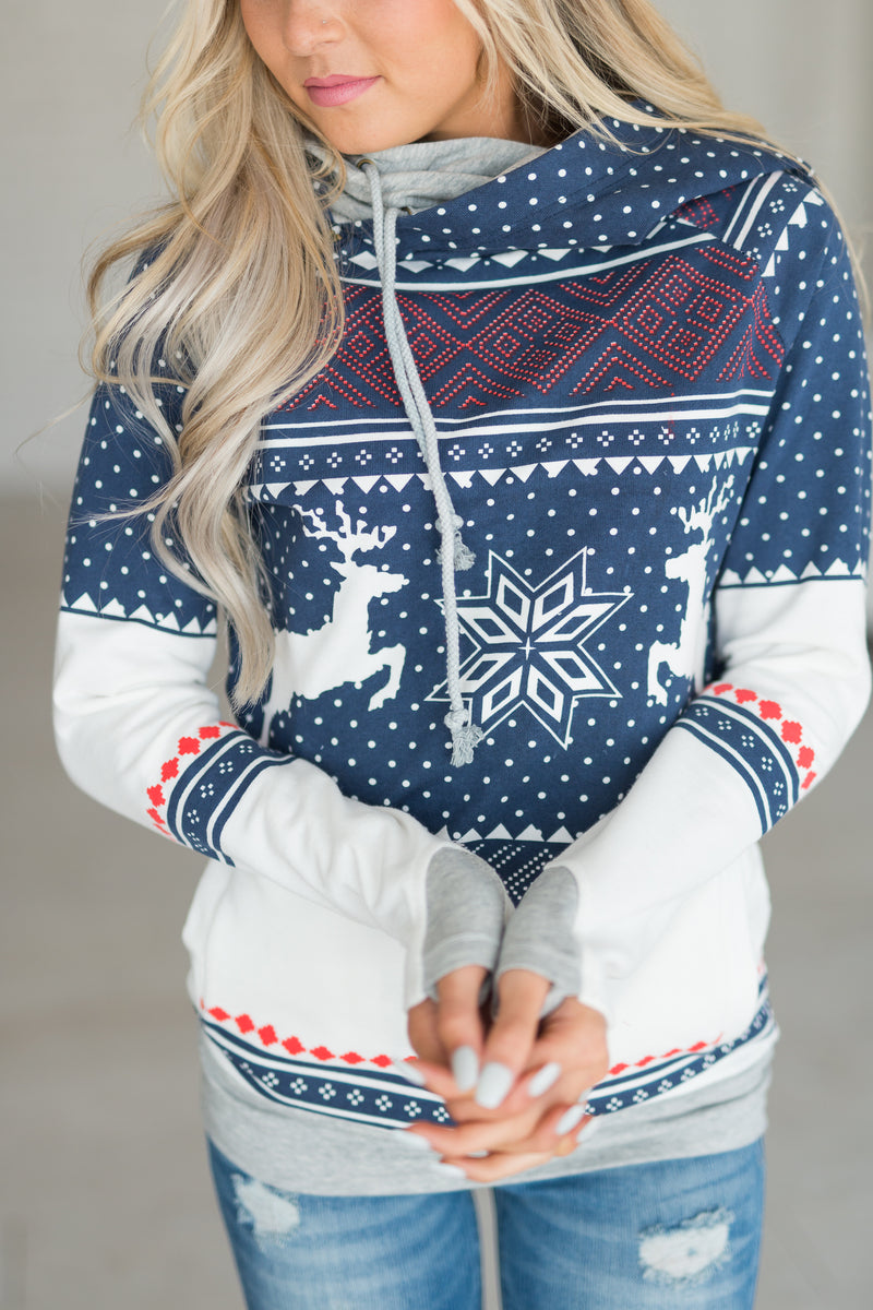 DoubleHood™ Sweatshirt - Winter Wonderland