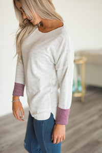 Reversible Sweater - Plum