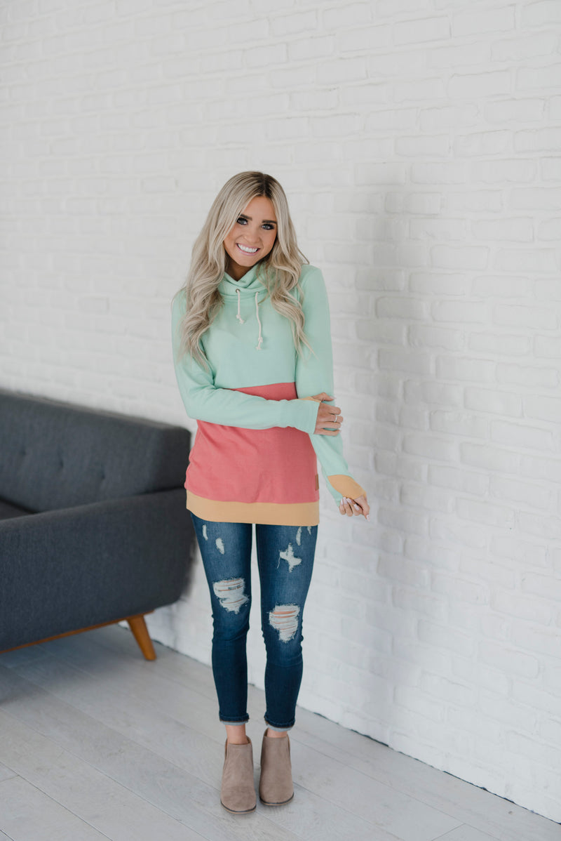CowlNeck Sweatshirt - Watermelon