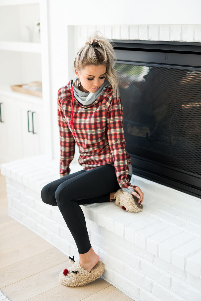 DoubleHood™ Sweatshirt - Wrap it Up Plaid