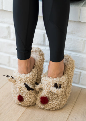 Reindeer Slippers