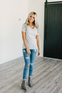 LuLu Everyday VNeck - Oatmeal
