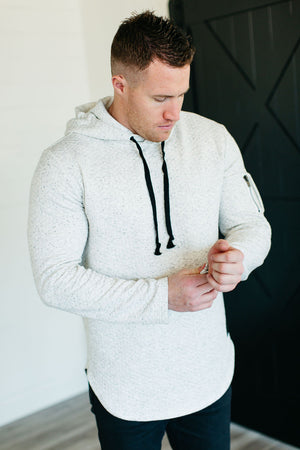 Mens Iconic Hoodie - Quilted Natural