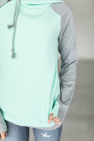 DoubleHood™ Sweatshirt - Quilted Mint