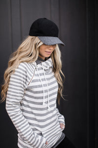 DoubleHood™ Sweatshirt - Grey on Grey