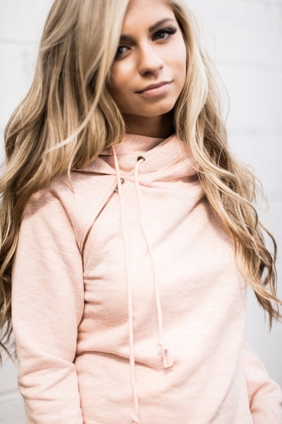 *Exclusive DoubleHood™ Sweatshirt - Blush