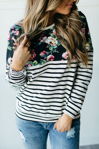 Accent Pullover - Midnight Floral