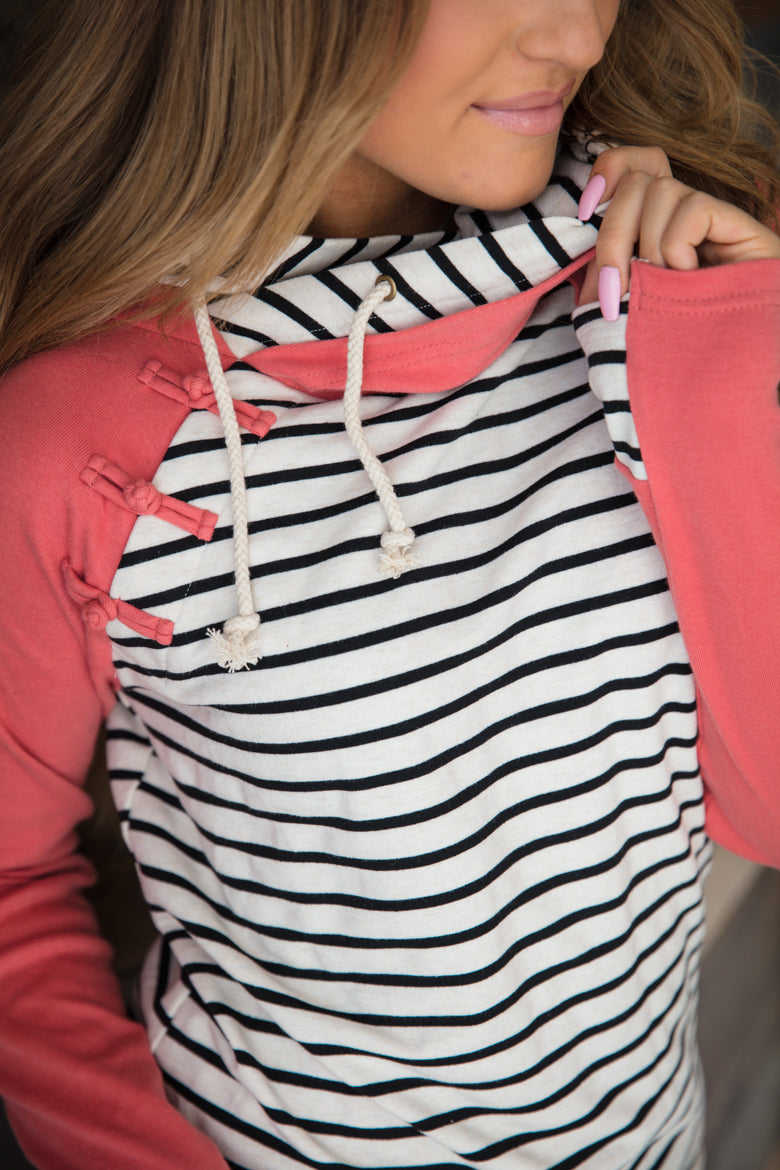 Knotted DoubleHood™ - Coral Stripe