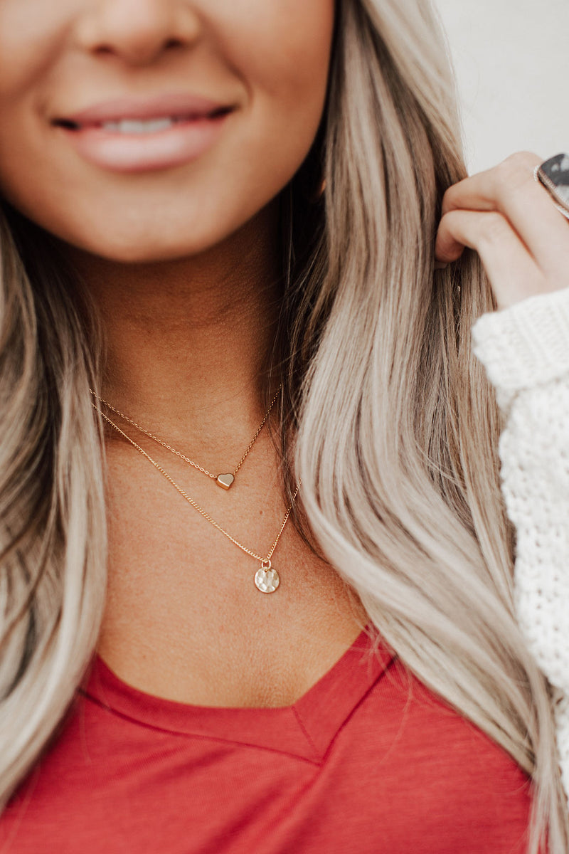 Tiny Heart Necklace - Gold