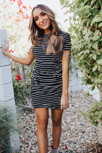 Better Than Basic Dress - Black Stripe