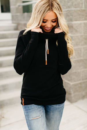 CowlNeck Sweatshirt - Black
