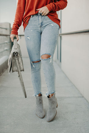 Cagney Distressed Skinny Jeans