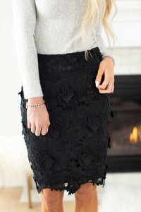 Ultimate Floral Skirt - Black