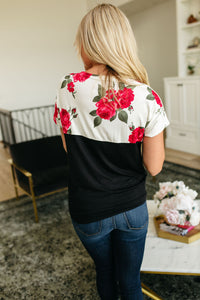Willow Floral Tie Front Tee