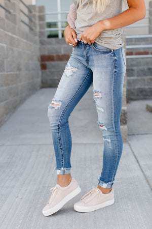 Logan Medium Wash Skinny Jeans