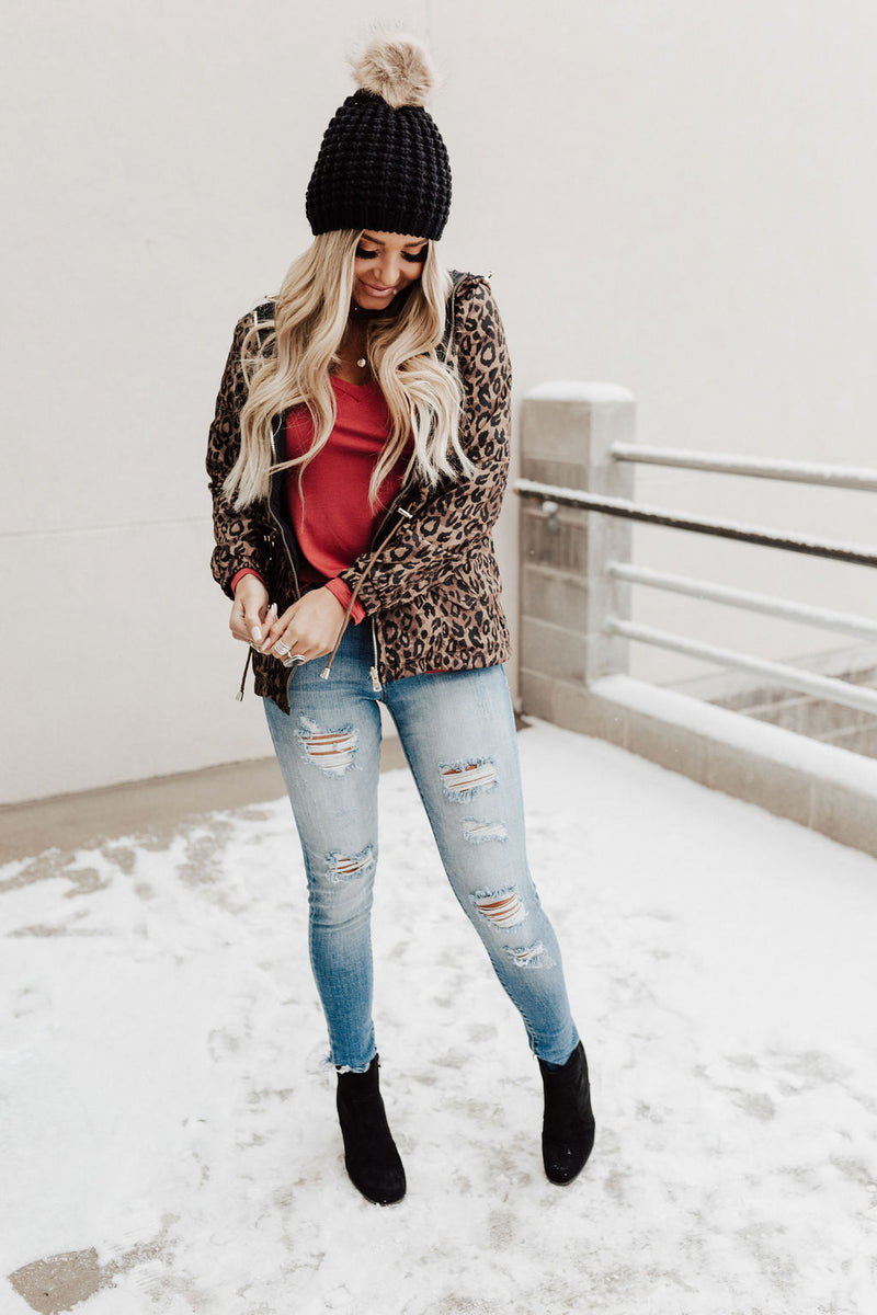 Reversible Leopard Jacket