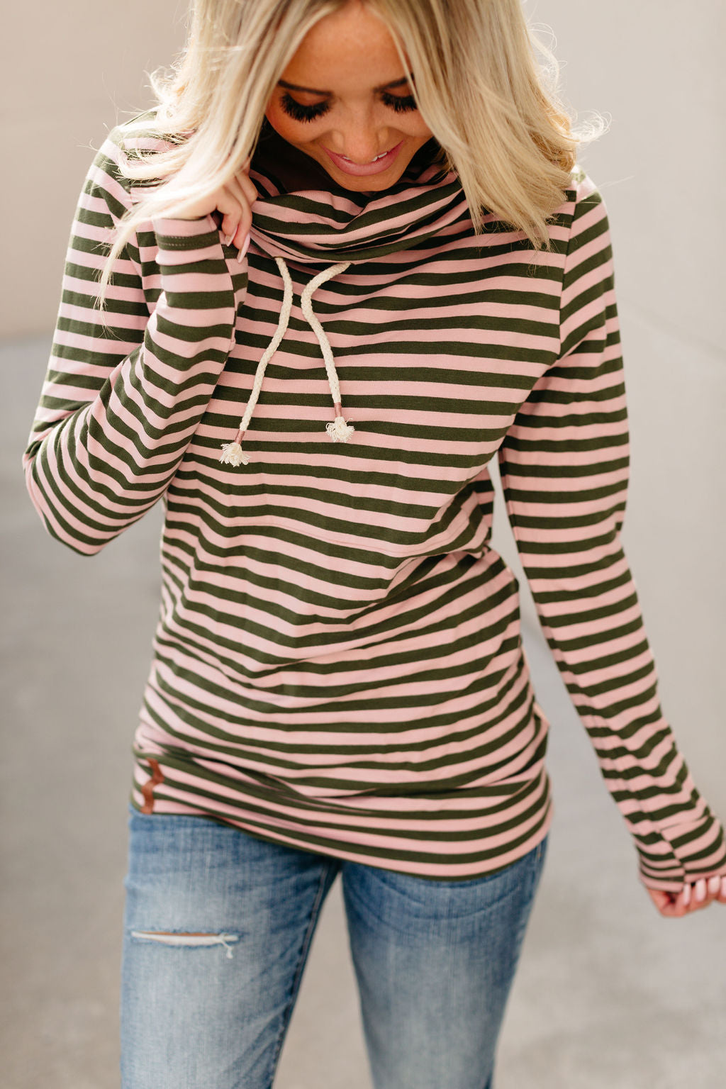 CowlNeck Sweatshirt - All A Flutter