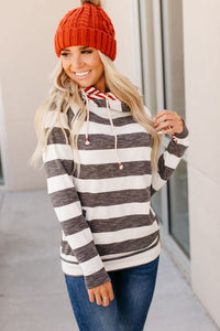 DoubleHood™ Sweatshirt - Harvest Stripe