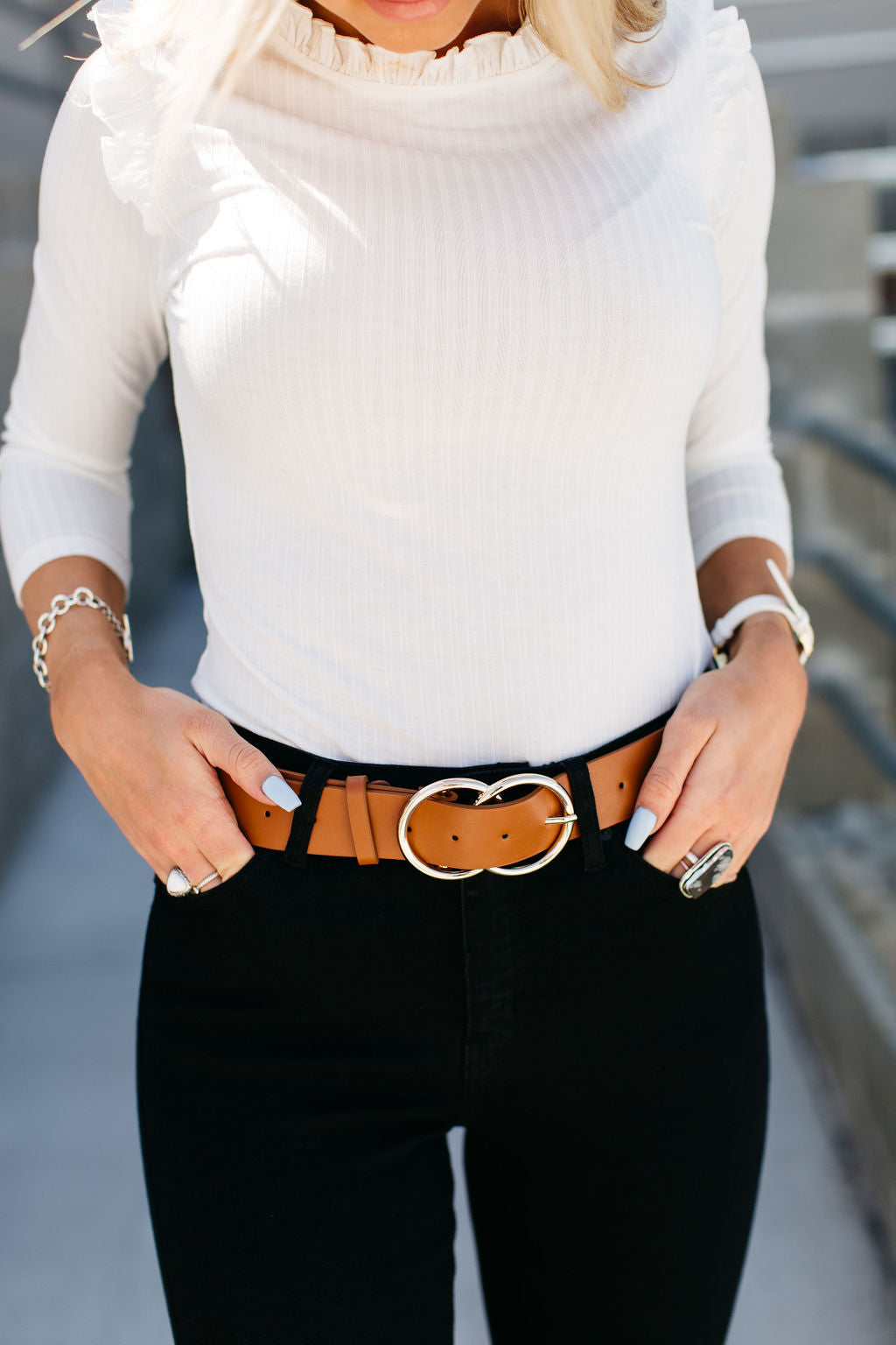 Thick Loop Belt - Tan