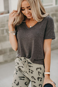 Staple VNeck Tee - Charcoal