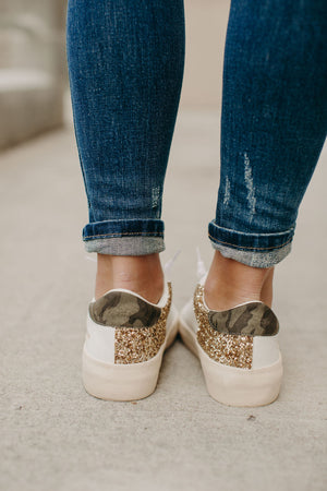 Forrest Sneakers - Gold Glitter