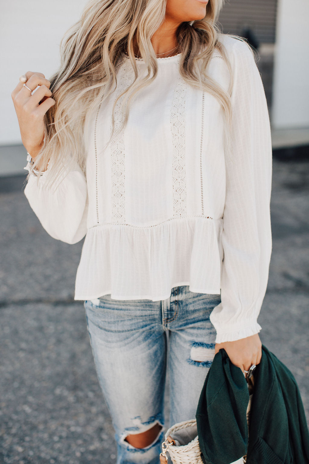 Abigail Lace Detail Top