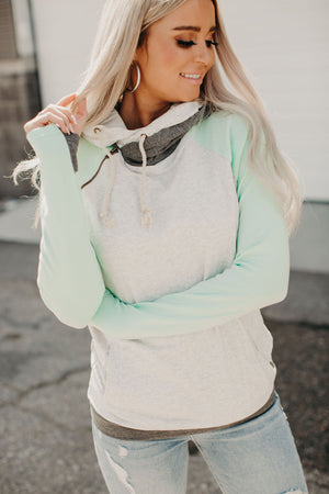 Baseball DoubleHood™ Sweatshirt - Mint