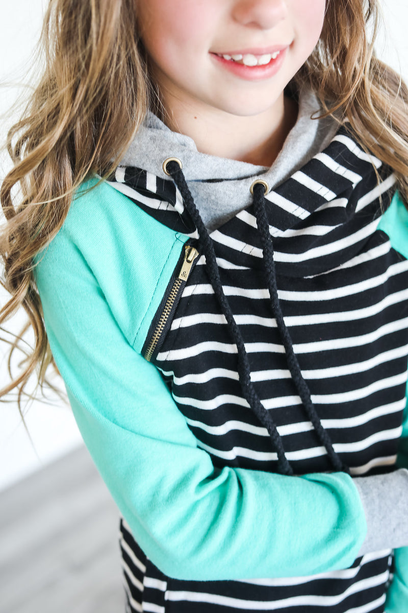 Youth - Black Stripe & Mint DoubleHood™