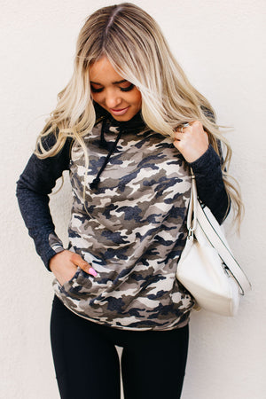 DoubleHood™ Sweatshirt - Camo Accent
